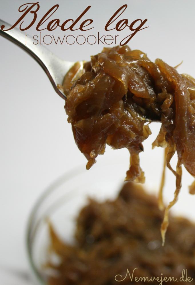 Bløde løg / brunede løg lavet i slow cooker