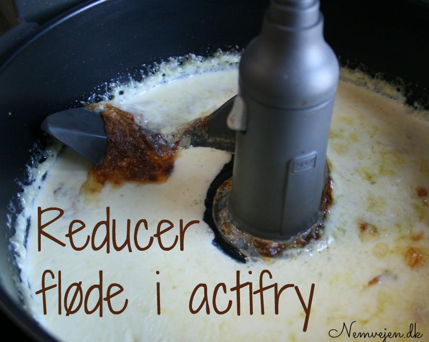 Reducering af fløde i actifry