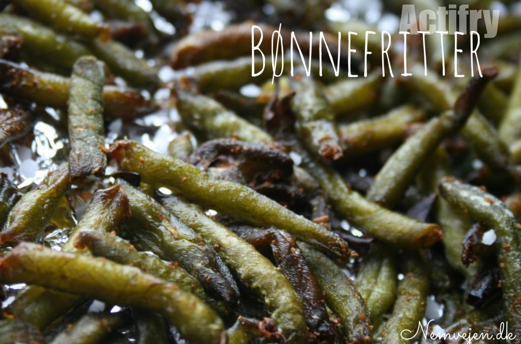 Bønnefritter harico verts lavet i actifry med hvidløg, salt og olie. LCHF opskrift
