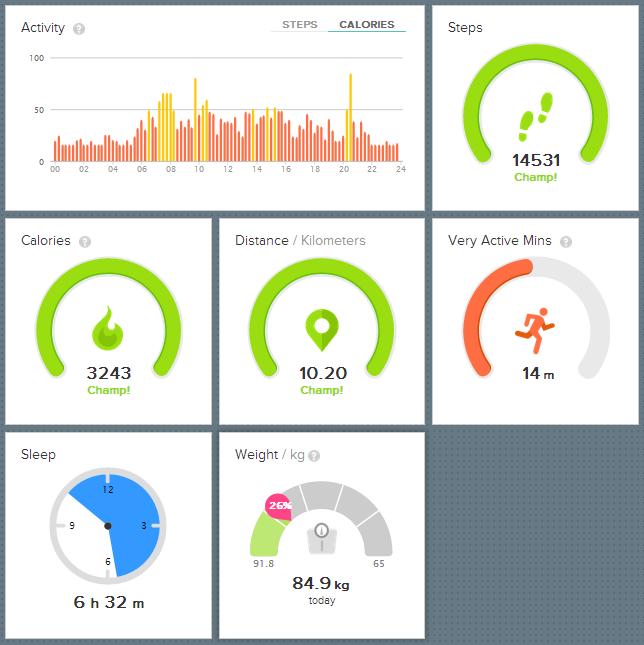 4000 kalorier eksperiment dag 2 Fitbit
