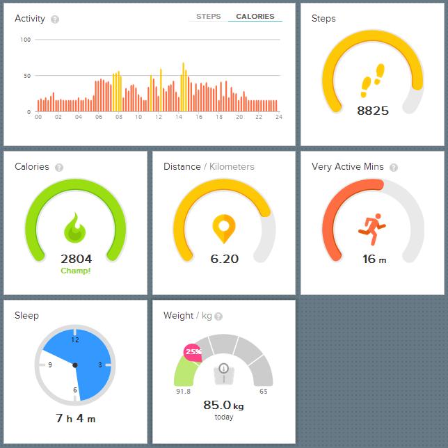 4000 kalorier eksperiment dag 1 Fitbit